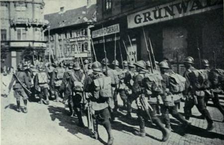 Trupele romane ocupa Budapesta in 1919