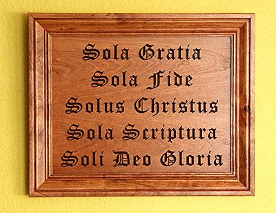 CELE CINCI SOLA - CELE CINCI PRINCIPII FUNDAMENTALE IZVORÂTE DIN CUVÂNTUL LUI DUMNEZEU