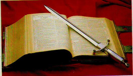 BIBLIA - CUVÂNTUL LUI DUMNEZEU - ESTE O SABIE CU DOUĂ TĂIŞURI