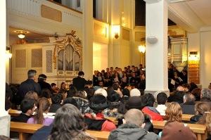 Emanuel Bălăceanu - tânărul dirijor care a condus concertul vocal-simfonic din Biserica Luterană