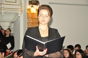 Mezzosoprana Antonela Bârnat - Oratoriul Mesia - Biserica Luterană - 5 decembrie 2010