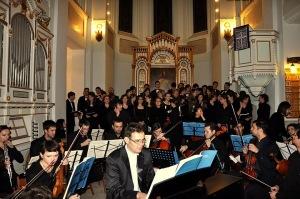 Oratoriul Mesia (Handel) - Biserica Luterană (5 decembrie 2010) înainte de începerea concertului