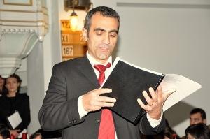 Solistul Veaceslav Vulpe - Oratoriul Mesia - Biserica Luterană (5 decembrie 2010)