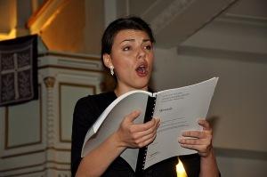 Soprana Ana Cebotari - Oratoriul Mesia - Biserica Luterană (5 decembrie 2010)