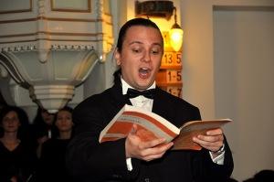 Tenorul Nicolae Simonov - Oratoriul Mesia - Biserica Luterană (5 decembrie 2010)