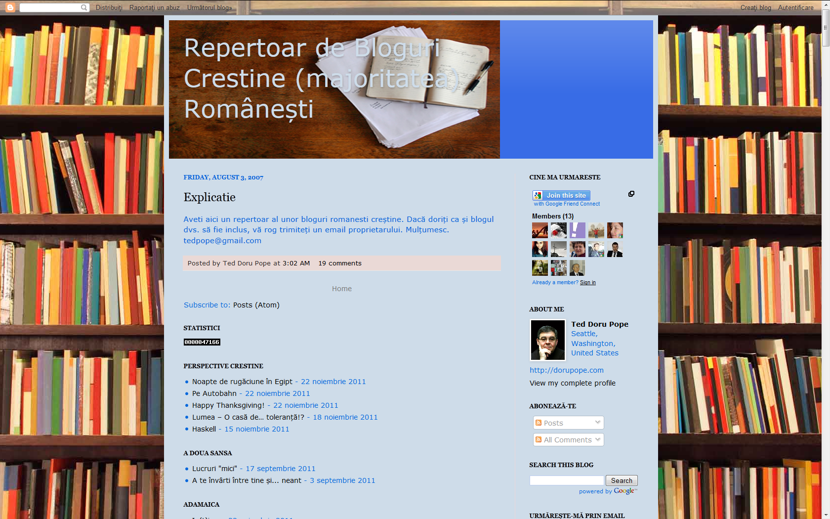 VIZITEAZĂ REPERTOARUL DE BLOGURI CRESTINE ROMANESTI