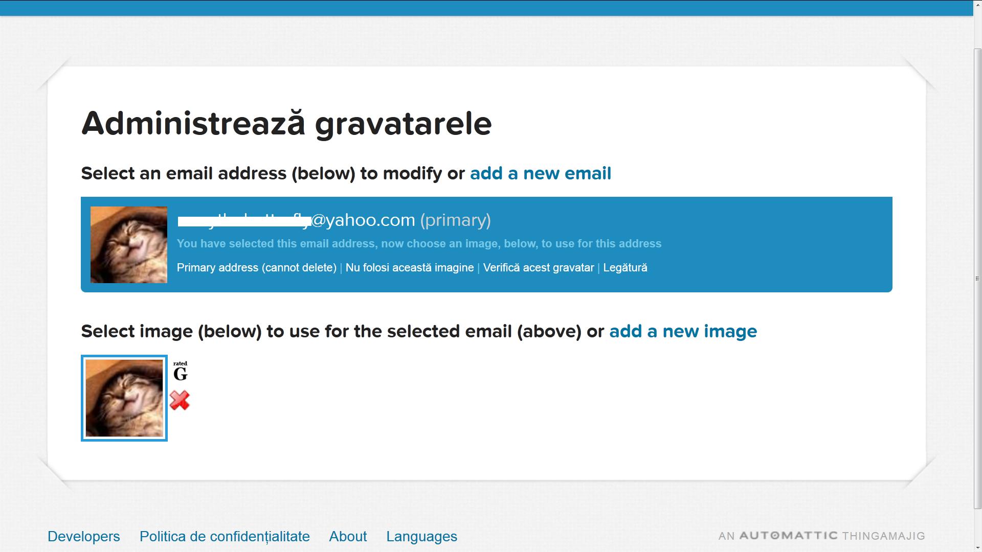 Selecteaza foto de mai jos ptr. a fi intotdeauna asociata adresei e-mail de mai sus