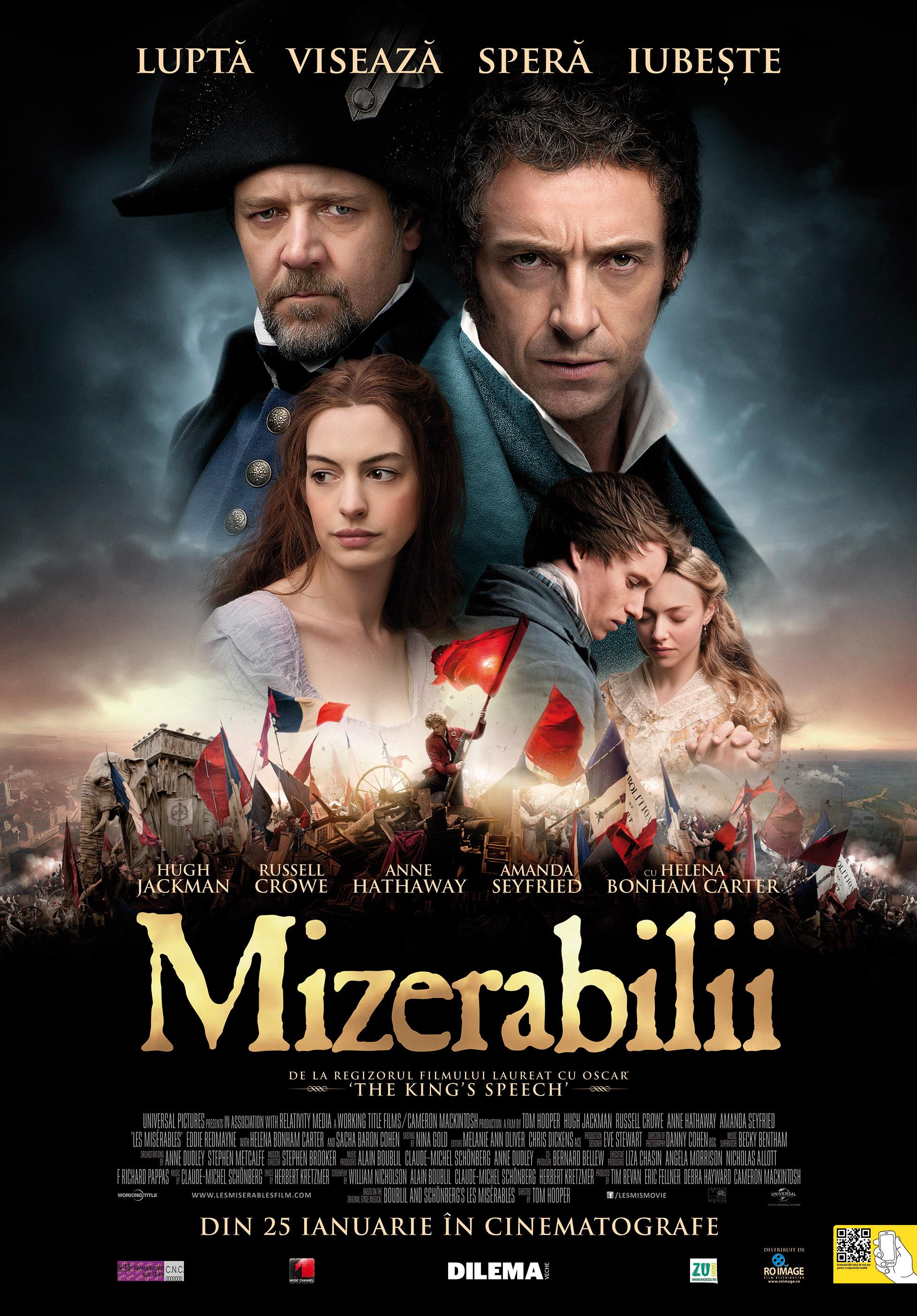Posterul filmului Mizerabilii 2012