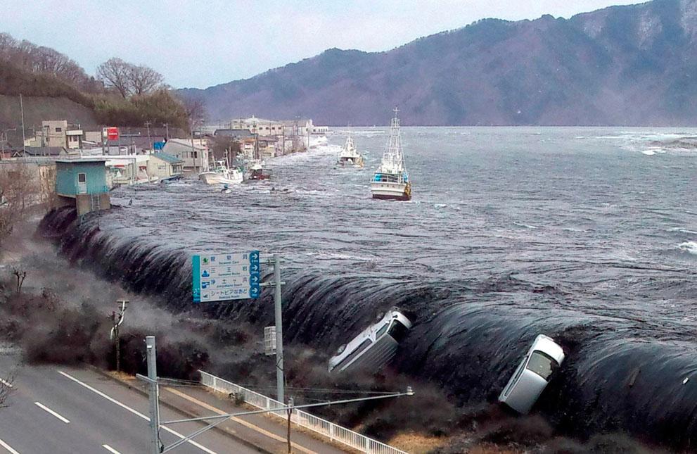 Cutremurul din Tohoku a generat un tsunami devastator care a distrus totul in 11 martie 2011